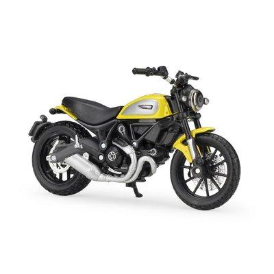 貓新人汽車模型美馳圖1:18杜卡迪Scramble仿真摩托車模型輪胎可動帶減震