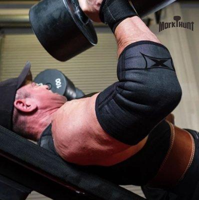 超級訓練Extreme X Elbow Sleeves 護肘套 牛仔布料 最大支撐 健力健美舉重 臥推PR 重訓 健身房