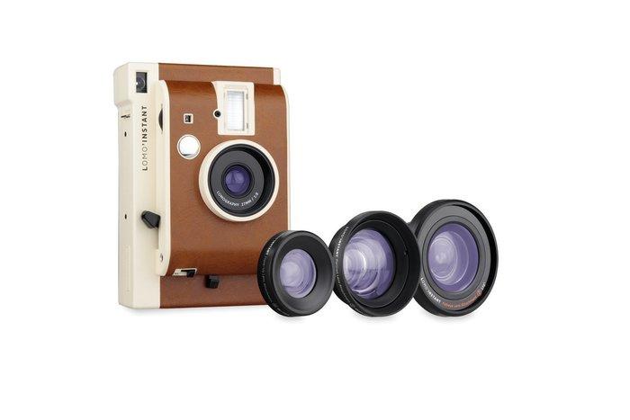 【eWhat億華】Lomography Lomo Instant Camera Sanremo 拍立得 搭 三款鏡頭組 類MINI90 公司貨 橘棕色 【4】
