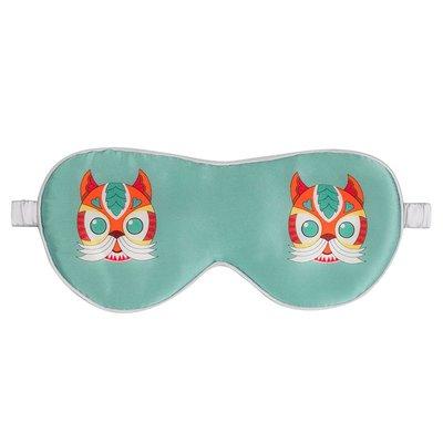 眼罩太湖雪桑蠶絲雙面真絲美容時尚印花蠶貓眼罩 遮光睡眠 專柜同款