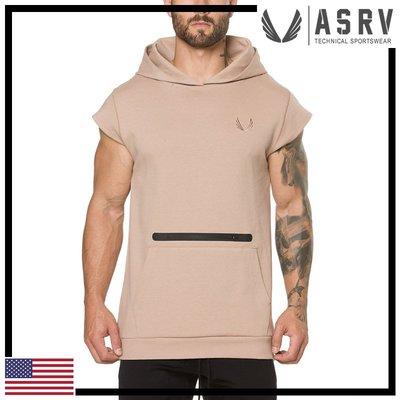 瘋狂金剛▸ 砂岩 ASRV Drop Shoulder Hoodie 抗起毛球 吸濕排汗 吊肩連帽衫 運動 健身