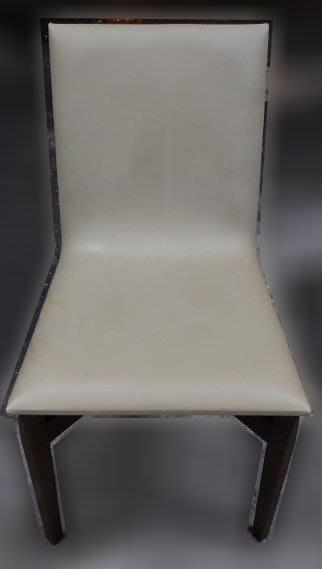 台中二手家具買賣 推薦西屯樂居(北)中古傢俱館F111410*皮餐椅* 二手餐桌 餐椅 餐桌椅組 各式桌椅 新北中古家具