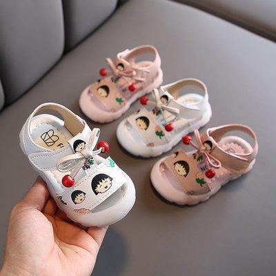 寶寶涼鞋夏季6-12個月男嬰兒涼鞋包頭軟底防滑0-1歲2女學步鞋不掉