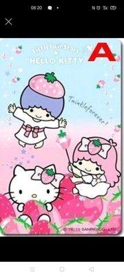 7-11【HELLO KITTY&雙星仙子】悠遊卡-閃亮草莓季 & 甜蜜草莓季