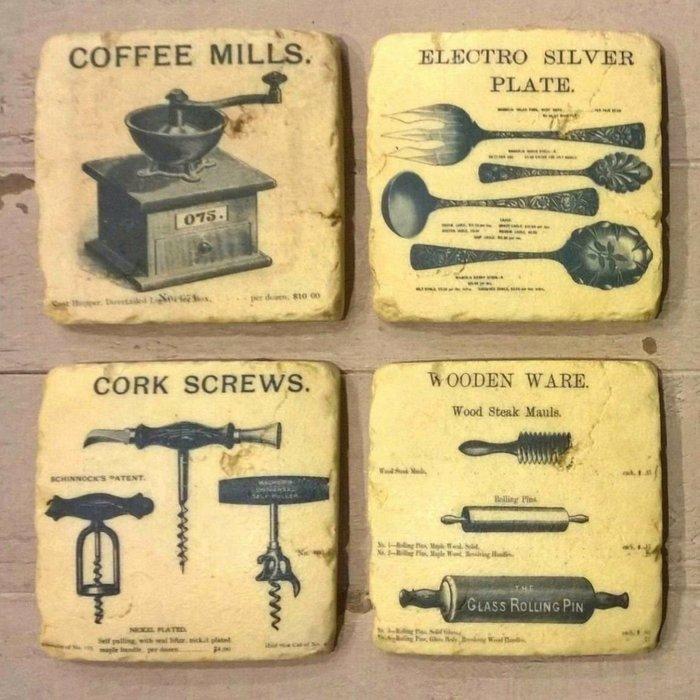 《齊洛瓦鄉村風雜貨》風復古廚具杯墊套組