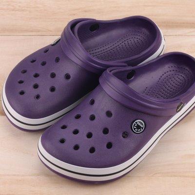 Ovan 女款 涼拖兩穿式 布希鞋 洞洞鞋 園丁鞋 拖鞋 紫色
