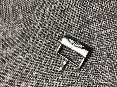 Breitling百年靈 表扣 代用皮表帶手表配件不銹鋼銀表扣針扣 20mm鋼帶錶帶錶帶