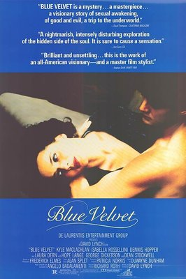 藍絲絨 ( Blue Velvet ) - 大衛林區 ( David Lynch ) - 美國原版電影海報(1986年)