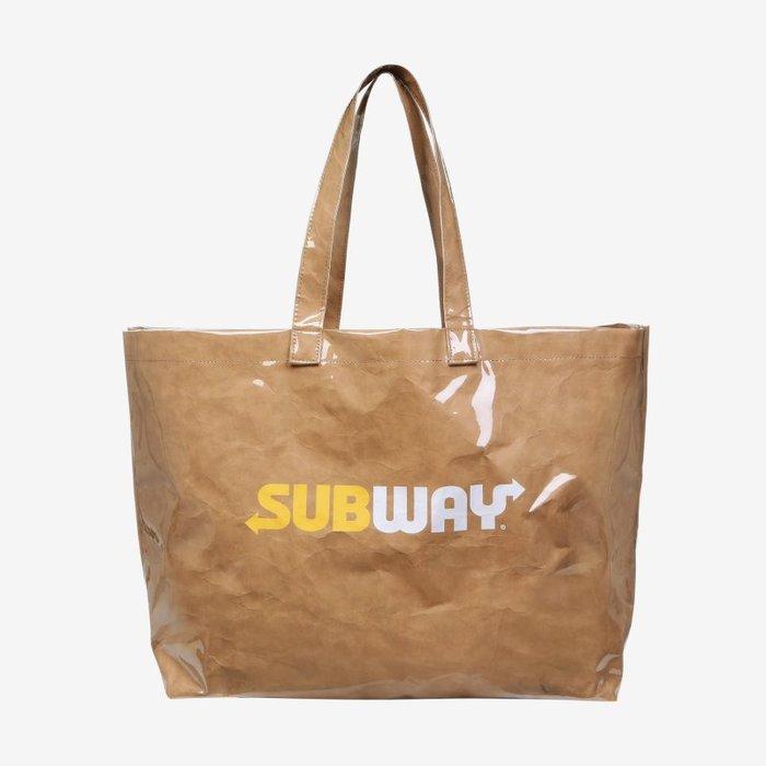 【Luxury】FILA X SUBWAY 聯名 提袋 收納包 大容量 三明治 限定 筆袋 韓國代購