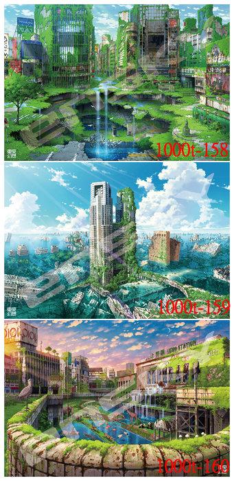 拼圖專賣店 日本進口拼圖 1000片 1000T-158 /1000T-159/1000T-160 東京幻想系列拼圖