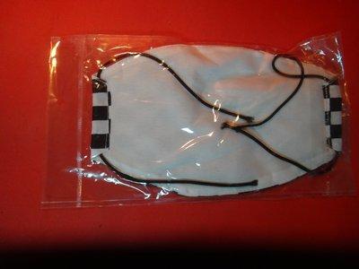 【愛悅二手書坊 CD-21】口罩  黑白格賽車旗 圖案