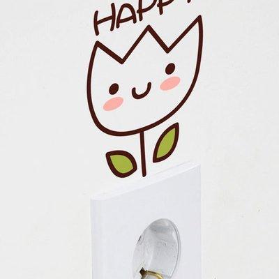 壁貼工場-可超取 小號壁貼 牆貼 貼紙 開關貼- 組合貼 HK5-352 鬱金香
