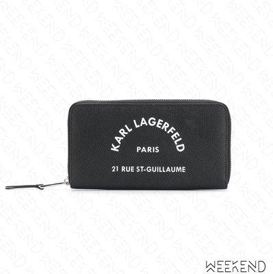 【WEEKEND】 KARL LAGERFELD Rue St Guillaume 卡爾 皮夾 長夾 黑色 19秋冬