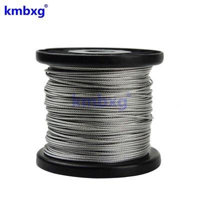 熱銷 316不銹鋼鋼絲繩 軟鋼絲線細鋼絲繩吊牌牽引鋼絲繩1.5mm7*7#鋼絲繩#不鏽鋼索具#配件