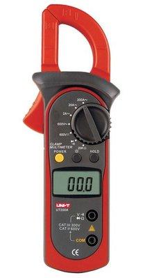TECPEL 泰菱 》UNI-T 優利德 UT 200A 交流數位鉤表 鉤錶 勾表 AC鉤表 T.RMS