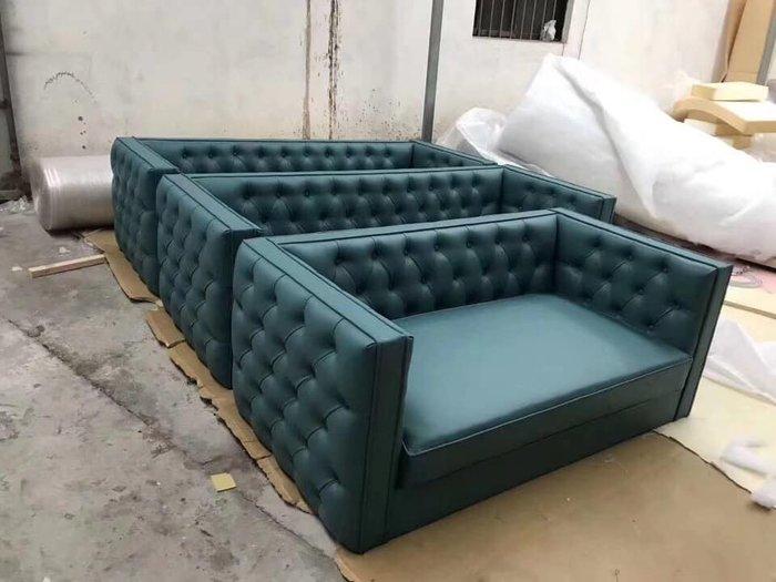 【順發傢俱】客製沙發,綠色,拉扣,~部份地區免運費