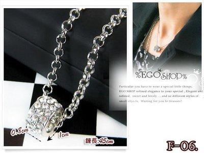 %EGO-SHOP%韓國輕型男明星款搭配單品-水鑽戒飾項鍊F-06~.