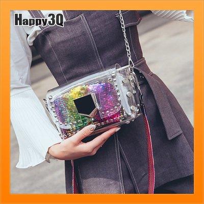 編織包亮片包特殊包小方包隨身包子母包透明包軟包-粉/彩/米【AAA4425】