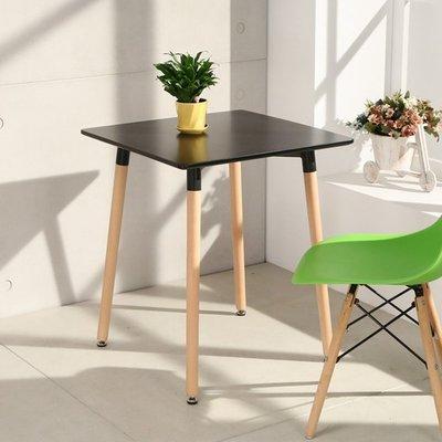 黑設計款 北歐風簡約60*60cm方桌 餐桌 休閒桌 書桌 工作桌 實木腳 便利 租屋族 公寓  好實在@T6060B