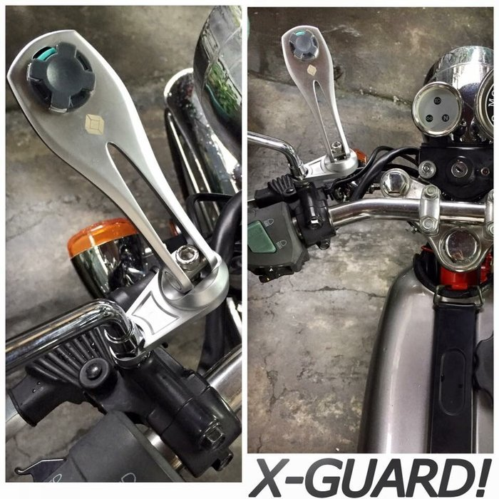 (I LOVE樂多)Intuitive-Cube鋅合金機車後照鏡固定式車架可搭配X-Guard手機保護 防摔殼安全扣設計