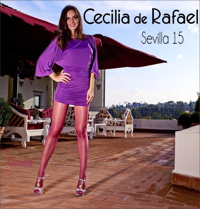 °☆就要襪☆°全新西班牙品牌 Cecilia de Rafael SEVILLA T型無痕高光澤透明絲襪(15DEN)