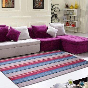 新款歐式現代時尚滿鋪純棉地毯客廳茶幾沙發書房臥室床邊地墊170*230公分藍彩
