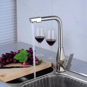 廚房不銹鋼全銅螺母冷熱水龍頭DL7780