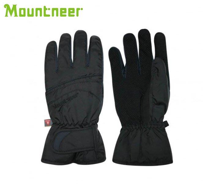 丹大戶外【Mountneer】山林休閒 Primaloft防水觸控手套 12G08-01 黑色