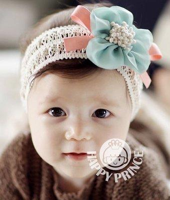 BHL064-韓劇童星愛用品牌HappyPrince 可愛雪紡紗花朵寶寶嬰兒童髮帶【現貨】韓國製