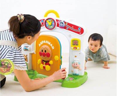 【JPGO日本購】日本進口 麵包超人 三階段玩法 3STEP 房屋造型 智育玩具#872