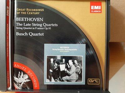 Busch Quartet,Beethoven-The Late String Quartets&Op.95布許四重奏,貝多芬-晚期及作品95等7首弦樂四重奏.