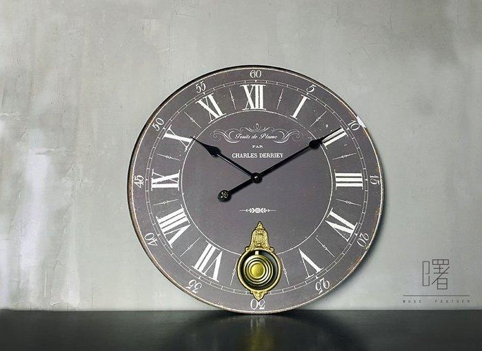 【曙muse】北歐簡約復古大掛鐘  經典時鐘 裝飾品 loft 工業風 咖啡廳 民宿 餐廳 住家