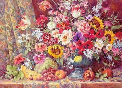 日本進口拼圖 繪畫風景 美麗的花 水果 Barbara Mock 600片拼圖 66-126