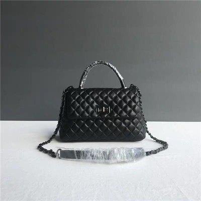 外貿女包包原單尾貨大牌同款經典時尚菱格鏈條包手提包