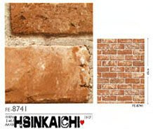 【鑫鎧棋磁磚精品】日本進口壁紙/壁布復古紅磚色文化石/仿建材石材商城最低價280元/米