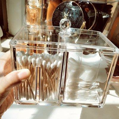收納盒 收納櫃 簡約 收納包 正韓 化妝棉收納盒透明化妝品卸妝棉小盒子桌面棉簽整理盒置物盒塑料盒