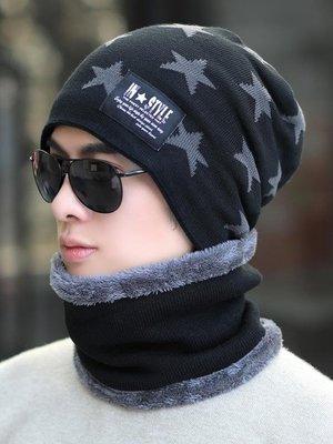 帽子 帽子男冬天加厚保暖針織毛線帽棉帽男士冬季潮青年防寒風