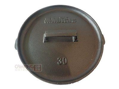 【山野賣客】CAMP LAND RV-IRON 556 MAGIC 12吋淺型荷蘭鍋 野外烘培大師 鑄鐵鍋 平底鍋 煎鍋
