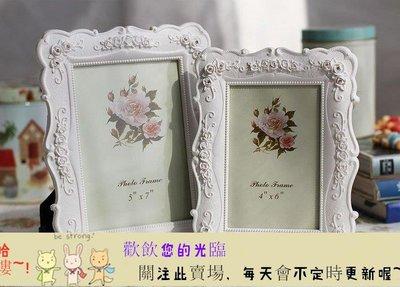 TW-1120205 6寸7寸8寸10寸白色田園相框組合玫瑰相架創意照片框擺台【首爾·站】