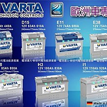 德國華達 VARTA 電瓶 (F17 80AH) KUGA FOCUS MK3 MK2 S40 XC60 S80 D5