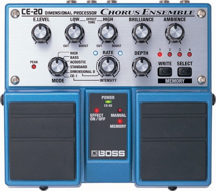 ☆ 唐尼樂器︵☆全新 BOSS CE-20 CE20 Chrous 民謠吉他/電吉他 Bass 錄音室級和聲雙踏板效果器