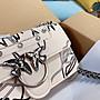 『韓秀高端日韓代購』奢侈PINKO最新款時尚百搭女包鏈條包真皮單肩斜挎包燕子包小方包