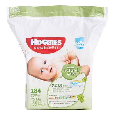Huggies - 天然加厚嬰兒濕紙巾 (184片補充裝) Natural Care Baby Wipes