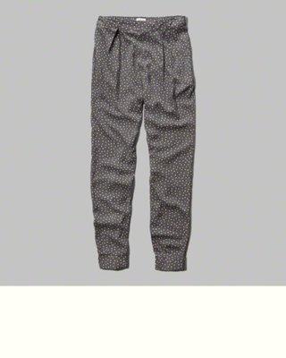 Maple麋鹿小舖 Abercrombie&Fitch * AF 點點圖案縮口褲 * ( 現貨S號 )