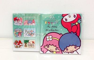『限時特價』My Melody & LittleTwinStars  40th夢幻特展  美樂蒂 雙星仙子 明信片6入組