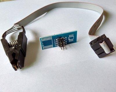 批發特價#SOP8 FLASH免拆測試燒錄夾子線 窄體寬體 通用夾 刷機夾 BIOS燒錄實用熱銷-888利是鋪