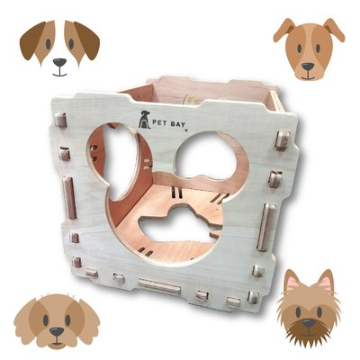 狗狗的好朋友~毛孩玩耍最佳選擇 KT100 KATIE穿梭貓屋 單組入含長抓 玩耍貓屋 毛小孩 寵物遊戲 寵物屋 多用途貓屋