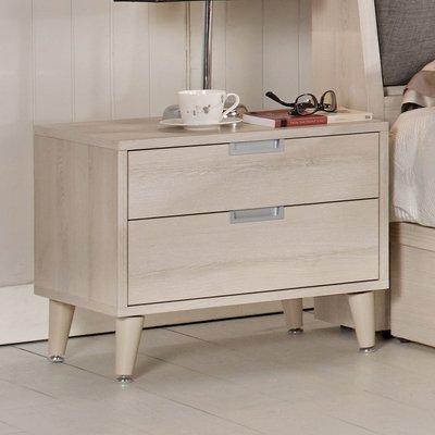 【在地人傢俱】19 美麗購-愛莎淺色耐磨木紋1.8尺二抽床頭櫃 CM533-6