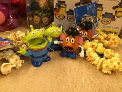 TOKYO Disneyland 東京迪士尼園區限定 三眼怪、彈頭先生園區爆米花桶造型鑰匙圈吊飾 (現貨)