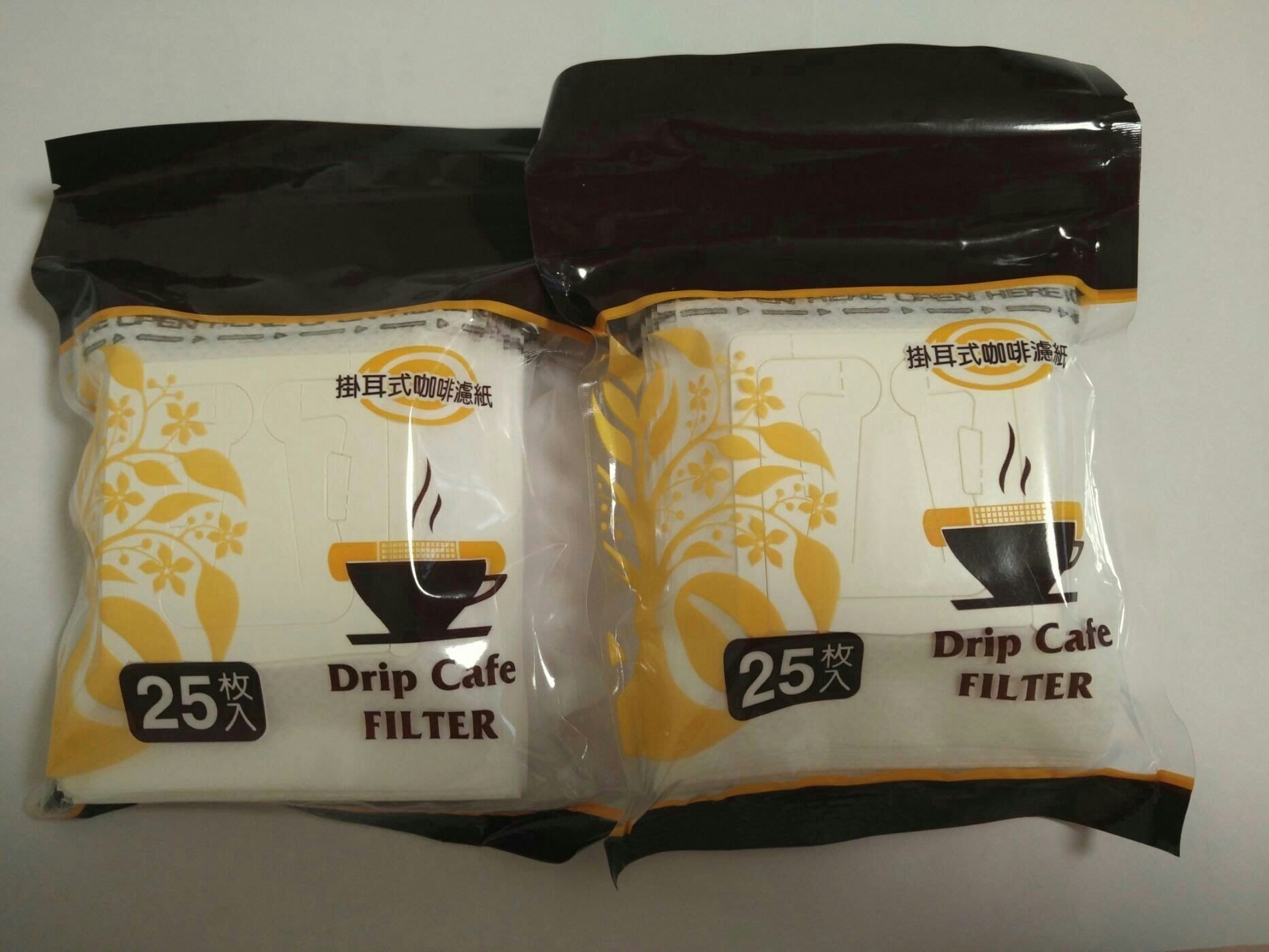 Drip Cafe 夾鏈袋 掛耳式 咖啡 濾紙 一式二包50入
